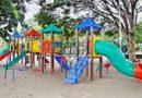 Novo parque infantil é instalado na Praça Botafogo em Cornélio