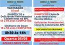 HOJE (05) A SEQUÊNCIA DE VACINAÇÃO DOS GRUPOS COM COMORBIDADES.